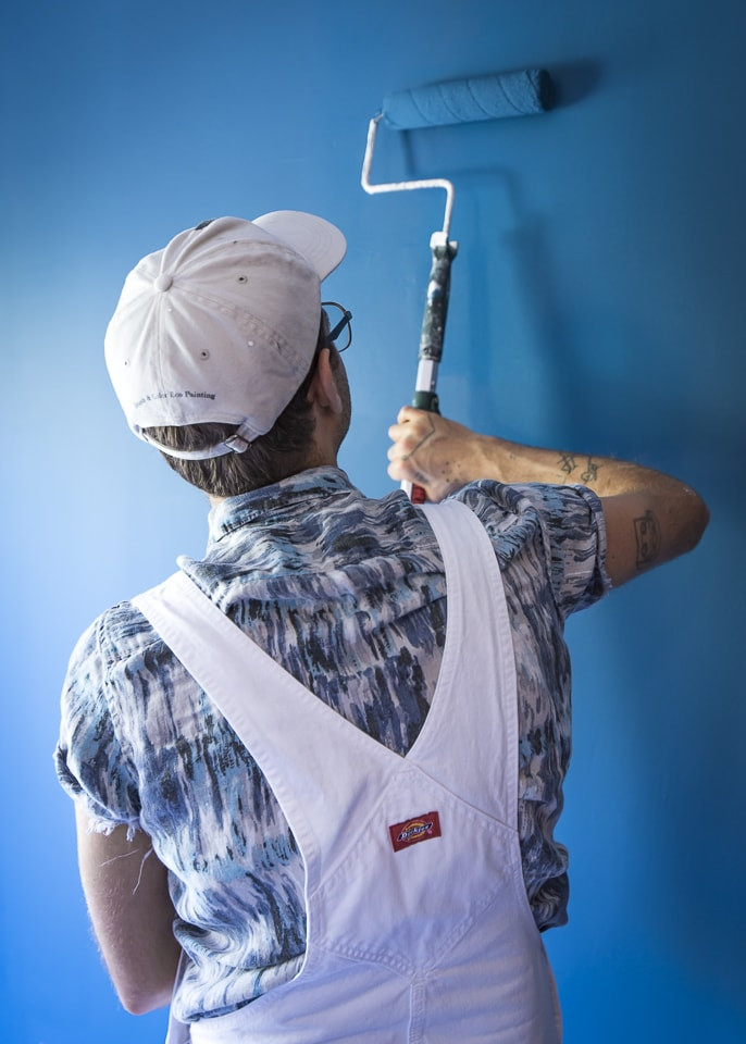 Residential paint contractor austin texas, cabinet painting, lime wash painting, romabio austin tx