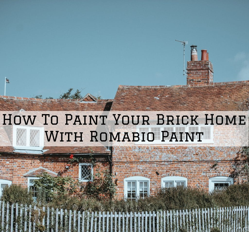 How To Paint Your Brick Home With Romabio Paint In Tarrytown, TX